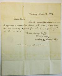 AUTOGRAPH LETTER SIGNED, DATED AT HARRISBURG, PA., DECEMBER 12, 1832, TO JOHN BUCHER, MEMBER OF THE HOUSE OF REPRESENTATIVES, WASHINGTON, D.C.:      FRIEND BUCHER, ANOTHER UNSUCCESSFUL ATTEMPT WAS MADE TODAY TO ELECT A UNITED STATES SENATOR. THE VOTES - 4 WERE TAKEN, WERE NOT ESSENTIALLY DIFFERENT FROM THOSE GIVEN ON YESTERDAY. WE HAVE NO NEWS./ . . . [signed] FRS. R. SHUNK/ THE CONVENTION ADJOURNED UNTIL TOMORROW.