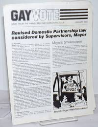 image of Gay Vote: news from the Harvey Milk Gay Democratic Club; January 1983; Revised Domestic Partnership Law