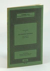 Sotheby & Co. Catalogue of Old Master Paintings - Auction Catalogue, 9 October 1974, London (ROWAN)