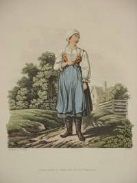 The Costume of the Hereditary States of The House of Austria: Original 1811 Bertrand De Moleville Hand Coloured Engraving - Plate 44: A Countrywoman of the Lowlands of Moravia [Czech Republic]