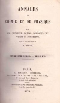 Annales de Chimie et de Physique (5th Series, Volume 15)