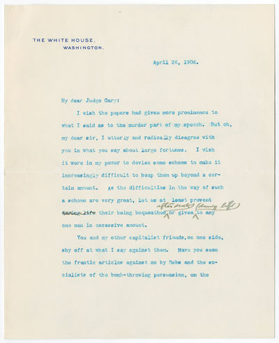President Theodore Roosevelt's...