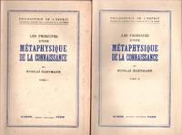 Les principes d'une métaphysique de la connaissance 2 tomes by HARTMANN NICOLAÏ - 1945 - from Le Grand Chene (SKU: 30770)