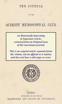 The Use of The Microscope as an Aid to The Classification of Animals. A rare original article...