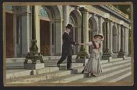 POSTCARD OF BREAKING UP COUPLE UP AT ANCESTRAL HOME