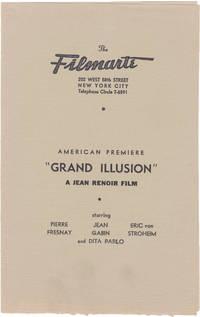 image of La Grande Illusion [The Grand Illusion] (Original program for the 1938 US premiere of the 1937 French film)