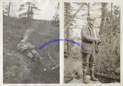 (KODIAK, ALASKA HUNTING PHOTOGRAPH ARCHIVE). An archive of nearly 100 black and white photographs em...