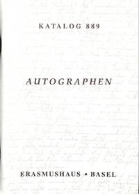 Katalog 889/n.d: Autographen Von Schriftstellern.