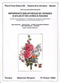 vente 14-15 Juin 1985 importante bibliothèque de voyages d'atlas et de  livres...