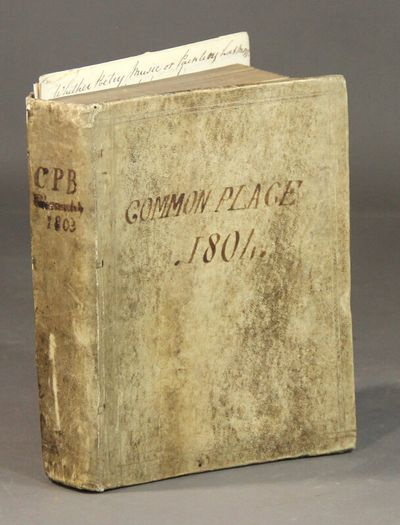 Scotland , 1813. Small 4to, pp. plus about 100 blank pages; 16 pages of manuscript material laid in;...
