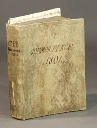 Manuscript commonplace book on civics and art