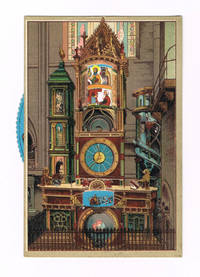 """image of A SUPERB COLOR POSTCARD OF THE SCHWILGUE ASTRONOMICAL CLOCK IN THE STRASBOURG CATHEDRAL, WITH A WONDERFUL MOVEABLE WHEEL WHEREBY THE SAINTS CAN MOVE N A PROCESSION WITHIN THE TOP WINDOW OF THE CLOCK, ENTITLED """"L'HORLOGE ASTRONOMIQUE DE LA CATHEDRALE."""""""