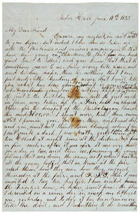 [AUTOGRAPH LETTER, SIGNED, FROM JOHN WILKES BOOTH TO HIS CLOSE FRIEND, T. WILLIAM O'LAUGHLEN, DISCUSSING INCIDENTS OF HIS LIFE]