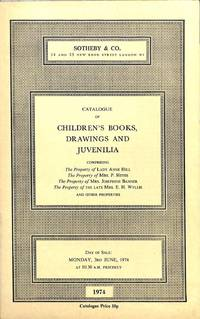 Sale 3 June 1974 : Children's Books, Drawings and Juvenilia Comprising the  Property of Lady Ann Hill, Mrs P. Heyes, Mrs Josephine Banner, the Late  Mrs E.H.Wyllie.