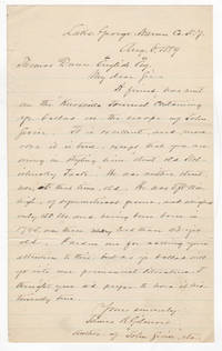 [Autograph Letter Signed by Lincoln's One-time Envoy Who Corrects Poe's Nemesis' Poetry] James R. Gilmore Corrects Thomas Dunn English's Factual Mistakes