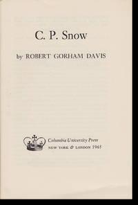 C. P. Snow (Columbia Essays on Modern Writers, No. 8)
