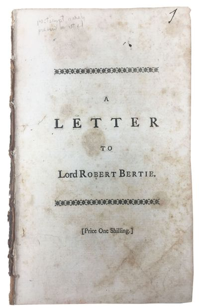 London: Printed for R. Griffiths, in Pater-noster Row, 1757. 1st Edition (ESTC T38153). Disbound, no...