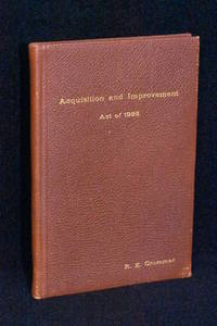 image of Acquisition and Improvement Act of 1925 (Mattoon Act); Statues 1925, Chapter 419
