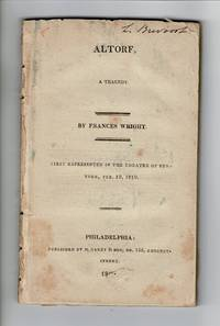 Altorf, a tragedy ... First represented in the theatre of New-York, Feb. 19, 1819