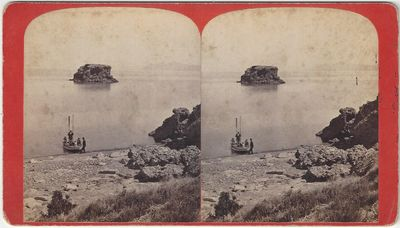 Salt Lake City: C.R. Savage, 1870. Stereoview. Albumen photograph on an orange mount with a printed ...