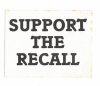 image of Support the Recall [sticker]