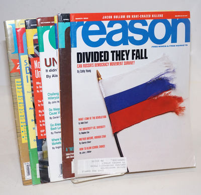 Los Angeles: Reason Enterprises, 1995. Seven issues of the libertarian magazine, 8.5x11 inches, all ...