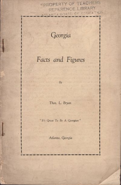 Demorest, Georgia: The Piedmont College Press, 1930. Wraps. Good. Stapled wraps (approx. 9
