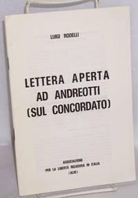 Lettera aperta ad Andreotti (sul Concordato)