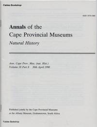 ANNALS OF THE CAPE PROVINCIAL MUSEUMS. Volume 18. Part 8.