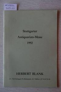 Stuttgarter Antiquariats-Messe 1992. Erstausgaben Des 18.-19.  Jahrhunderts, Geschichte, Philosophie, Erstausgaben Des 20. Jahrhunderts,  Insel-Verlag,
