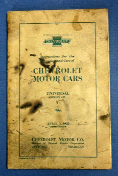 Detroit: Chevrolet Motor Co, 1930. 5th edition. Brown printed wrappers. VG (grease stains to wrapper...