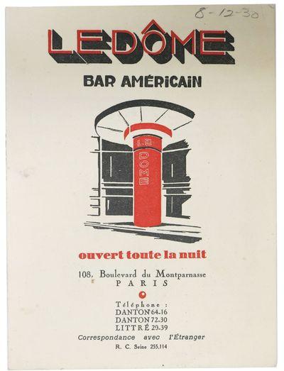 Paris: Impressions Arfeuille, 1930. 1st Printing. Off white card sock, paper leaves, letterpress pri...