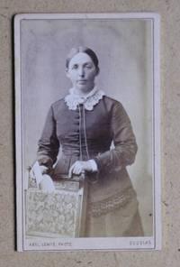 Carte De Visite Photograph. Portrait of a Young Woman Holding a Letter.