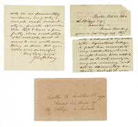 image of Three-page autograph letter signed to Luther Briggs on his plan of the college in Liberia
