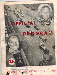 SIGNED Official Program Terre Haute Fairgrounds - 1958  Midget Car Races