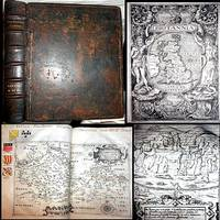 1607 BRITANNIA WILLIAM CAMDEN 1ST MAP EDITION 57 COMPLETE MAPS FOLIO LEATHER ENGLAND U.K. GEOGRAPHY