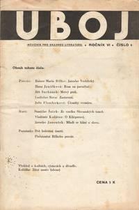 image of Uboj: měsíčník pro krásnou literaturu. Ročník VI, číslo 3, 4 [a monthly journal of belles lettres, vol. VI, nos, 3, 4]