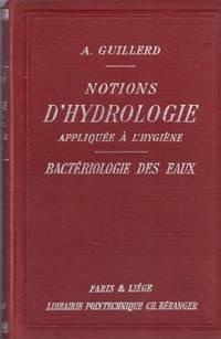 Bacteriologie Des Eaux Notions D'hydrologie Appliquée à L'hygiène