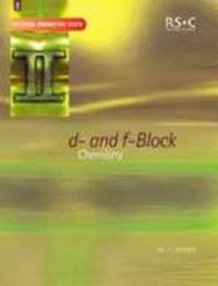 D- And F-Block Chemistry (Tutorial Chemistry Texts) - Used Books