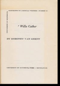 Willa Cather (Pamphlets on American Writers, No. 36)