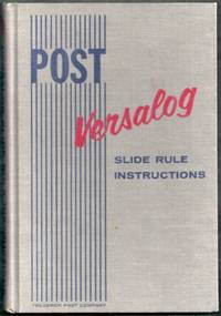 Post Versalog Slide Rule Instruction Manual