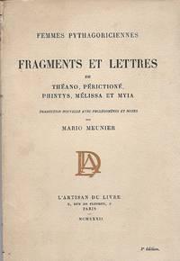 Fragments et lettres de Théano, Périctioné, Phintys, Mélissa et Mya,...