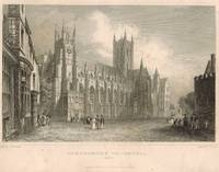 'Canterbury Cathedral'  figures on street, after T.M. Baynes by S. Lacey.