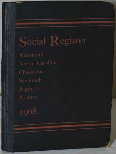 New York: Social Register Association, 1908. Pictorial Boards. Very Good binding. Listings of the up...