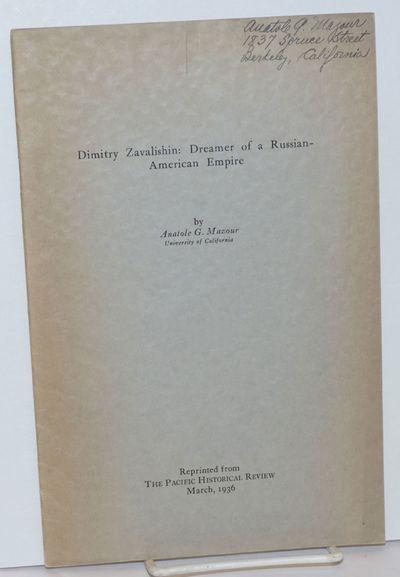 Berkeley: University of California Press, 1936. Pamphlet. Offprint, pp.26-37, softbound in plain pri...