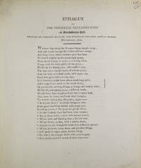 Epilogue To The Theatrical Representation at Strawberry Hill. Written by Johanna Baillie, And Spoken By The Hon. Anne S. Damer