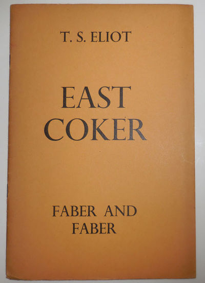 London: Faber and Faber, 1940. Second Impression. Paperback. Good. Slender stapled wrappers with int...