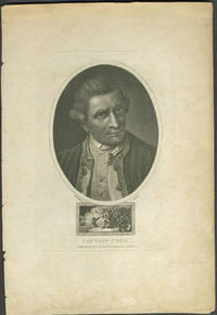 image of Captain Cook. Stipple engraved portrait with Death of Cook vignette