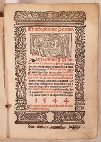 CHRISTOPHORUS PORCUS  CLARISSIMI DOCTORIS CHRISTOPHORI PORCI INSIGNIS LECTURA IN PRIMUS SECUNDU TERTIU INSTITUTIONUM