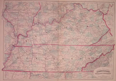 New York: Asher & Adams, 1872. unbound. very good(+). Map. Engraving with original hand coloring. Im...